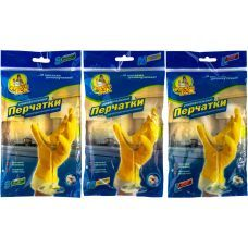 Перчатки резиновые универсальные для мытья посуды L, Фрекен Бок