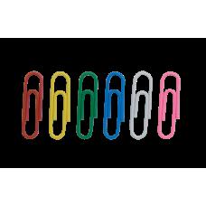 Скрепки цветные 28мм 100шт круглые
